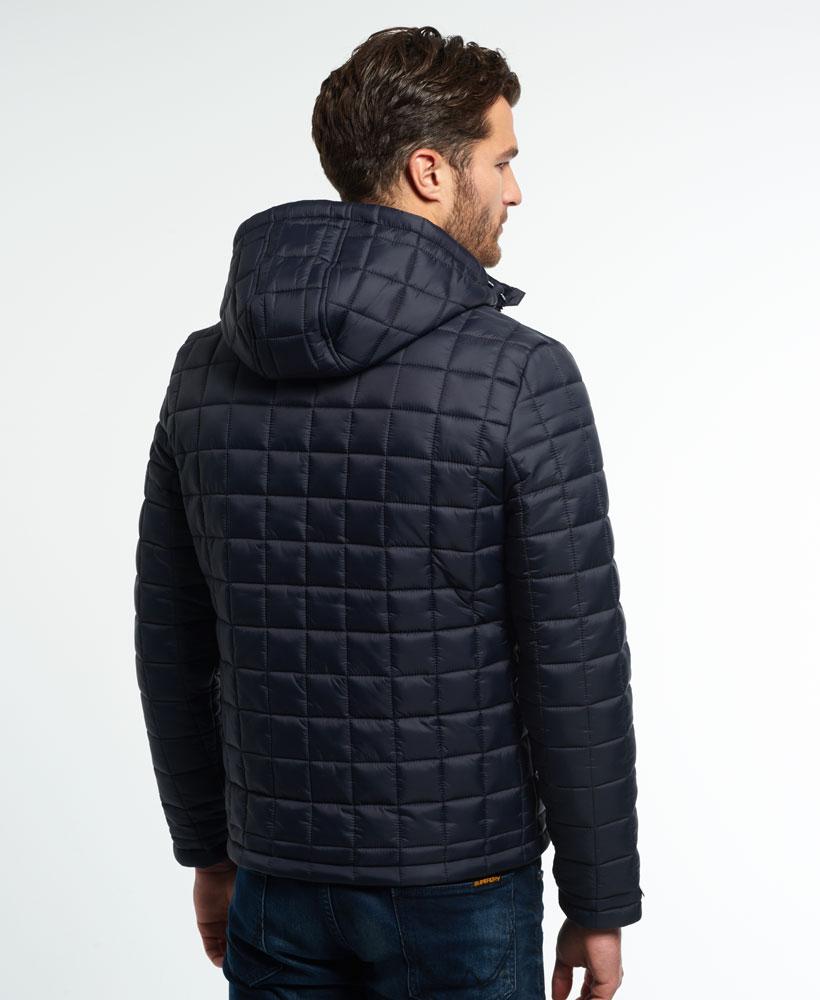 New Mens Superdry Box Quilt Fuji Jacket Navy Ebay