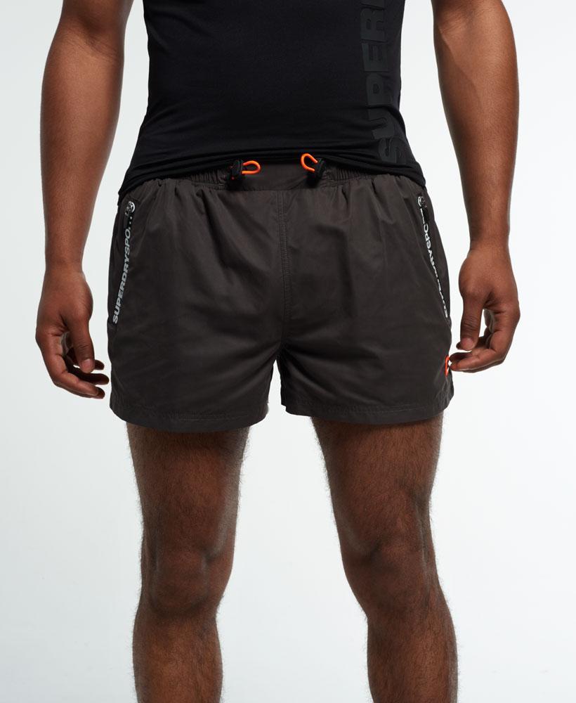 neue herren superdry gym training sport shorts grau ebay. Black Bedroom Furniture Sets. Home Design Ideas