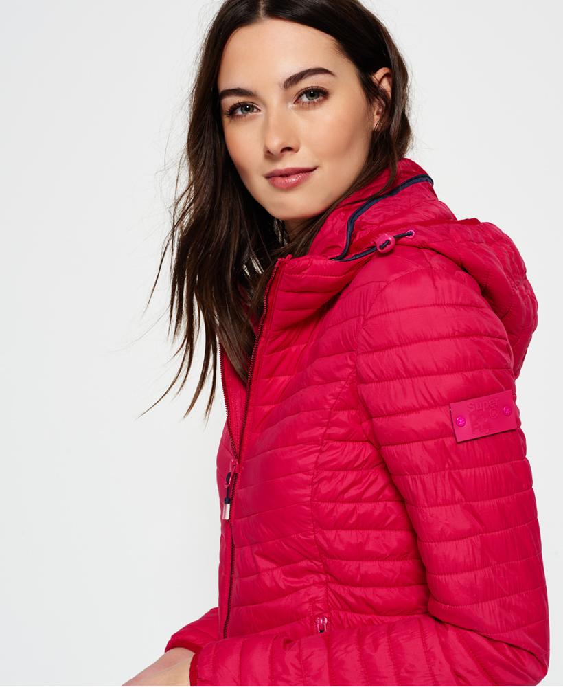 100% authentic dcee7 94c6b Details zu Neue Damen Superdry Vintage Fuji Jacke Pink