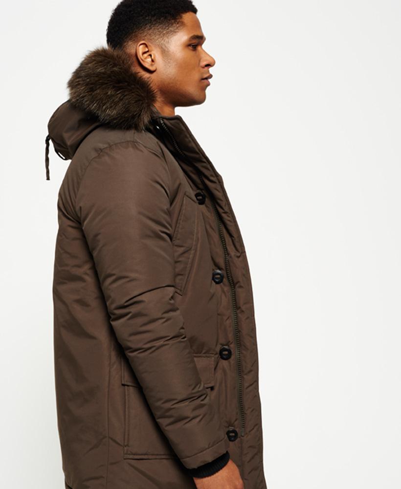 89b4b76e765 Details about New Mens Superdry Faux Fur Trimmed Everest Coat Khaki