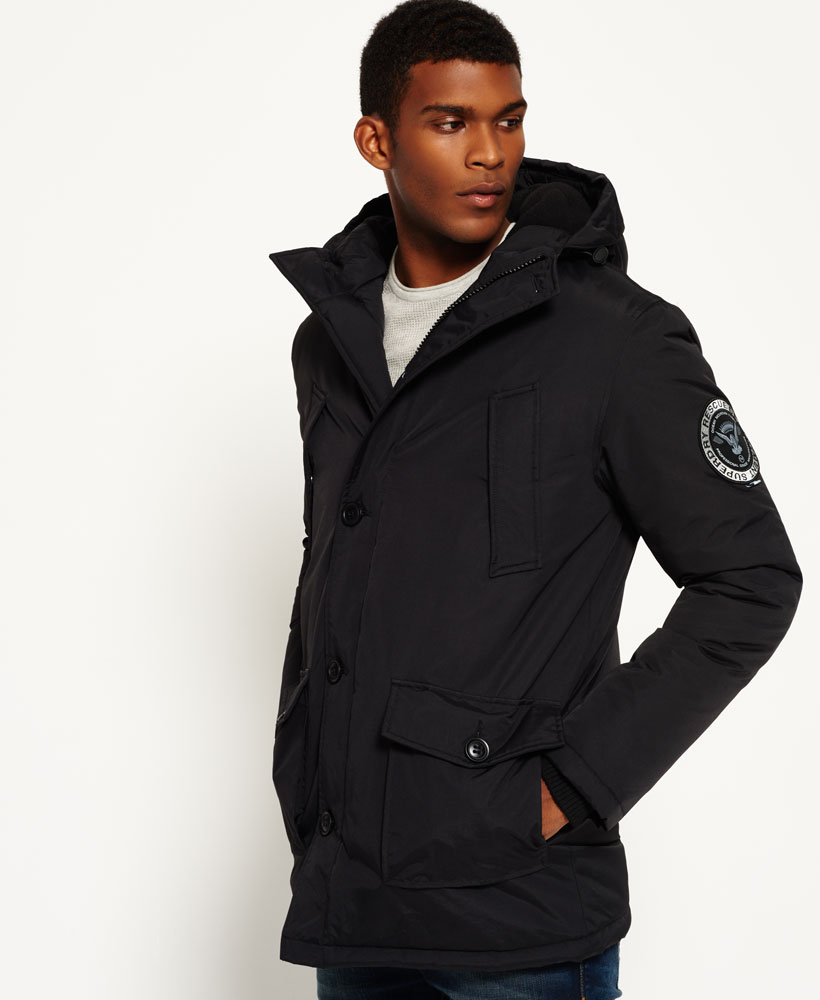 1ef4bcaf1f2 Sentinel New Mens Superdry Everest Parka Jacket Black