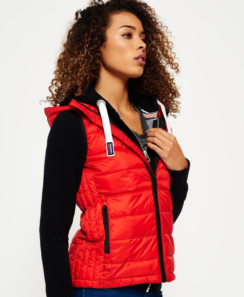 huge discount ad0fe 646e9 Details zu Neue Damen Superdry Core Luxe Weste Rot