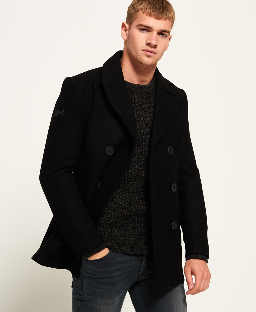 Clothing, Shoes & Accessories Superdry New Merchant Pea Coat Rrp £115 Men's Clothing