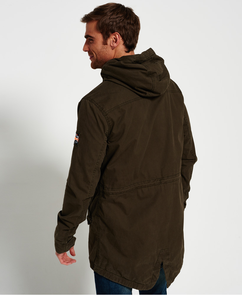 a38c67f269343 Sentinel New Mens Superdry Classic Rookie Military Parka Coat Forest Khaki