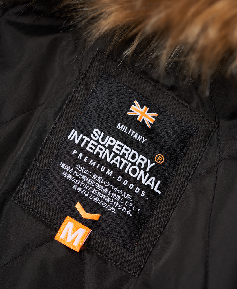 91be0c276 Details about New Mens Superdry Rookie Heavy Weather Parka Jacket Bitter  Black