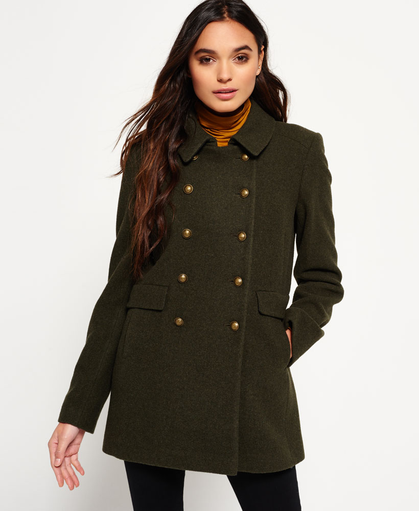 Womens khaki coat