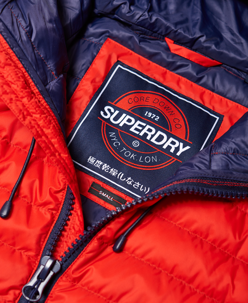 0c75910f9 Details about New Womens Superdry Core Down Hooded Jacket Red
