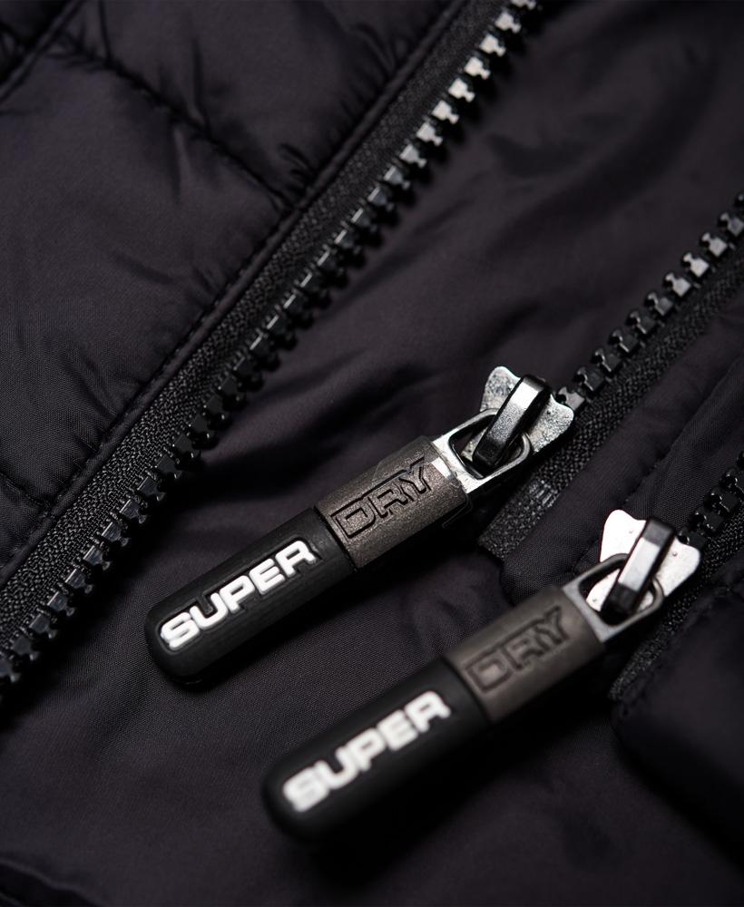 New Mens Superdry Hooded Box Quilt Fuji Jacket Black Ebay