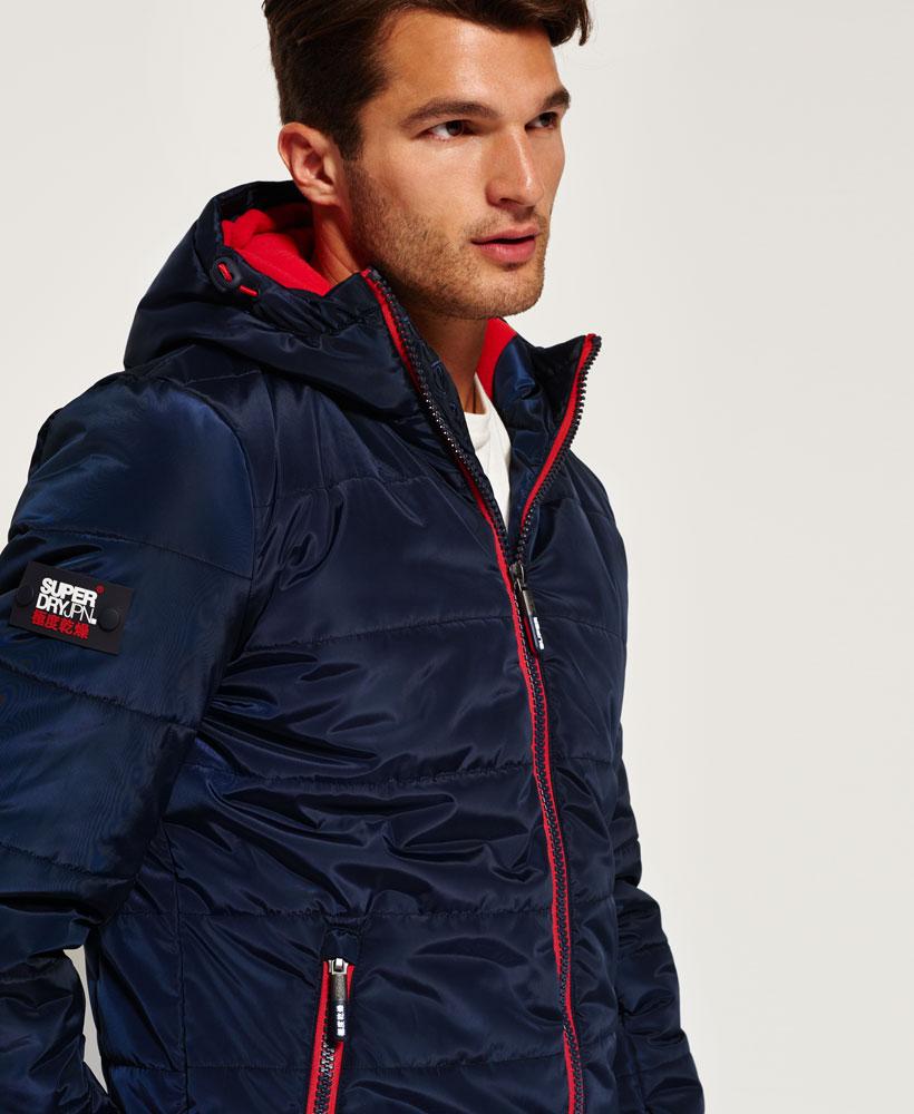 new mens superdry sports puffer jacket navy ebay. Black Bedroom Furniture Sets. Home Design Ideas