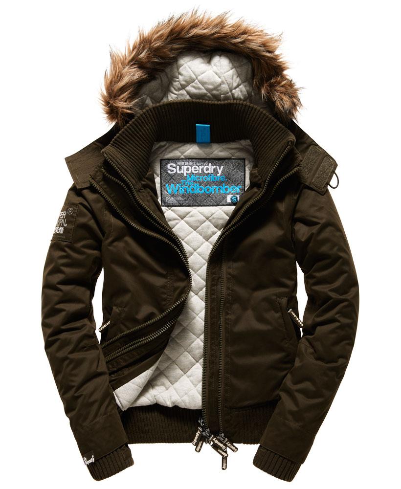 Women's Clothing Womens Superdry Microfibre SD-Windbomber Jacket Black