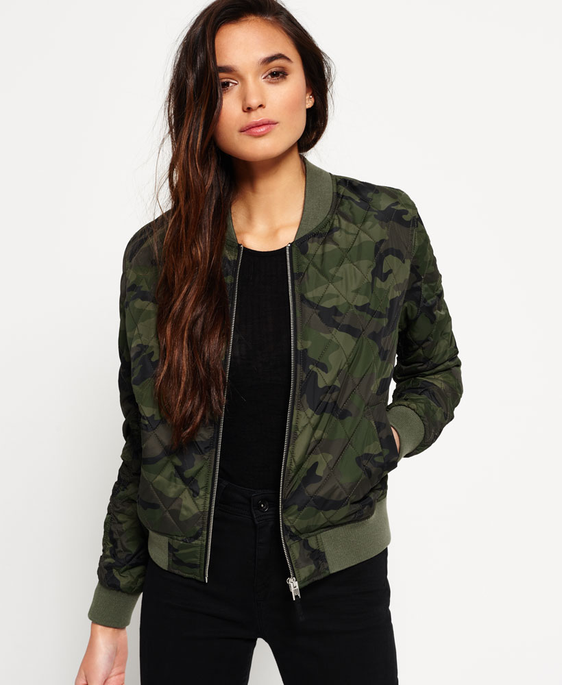 437dfff20a95a Sentinel New Womens Superdry Sd-1 Bomber Jacket Camo