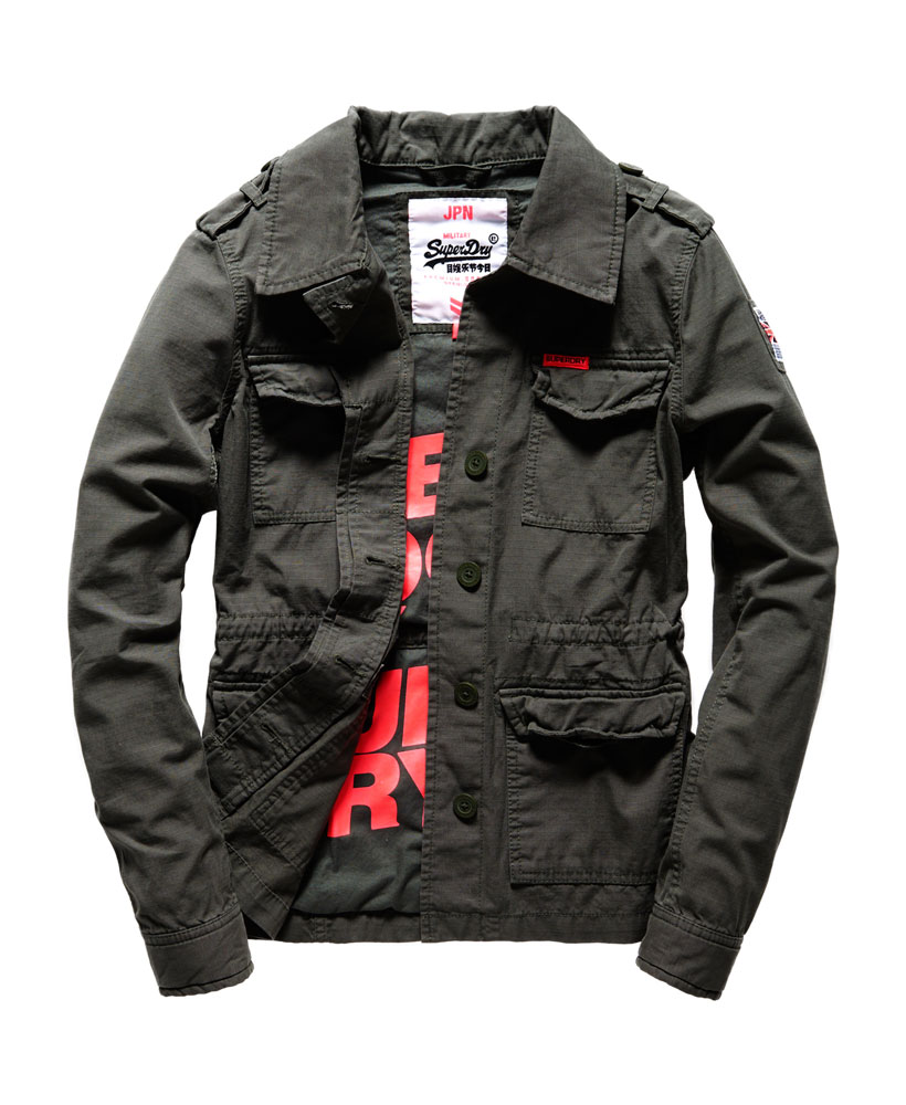 neue damen superdry rookie military blazer army grau ebay. Black Bedroom Furniture Sets. Home Design Ideas