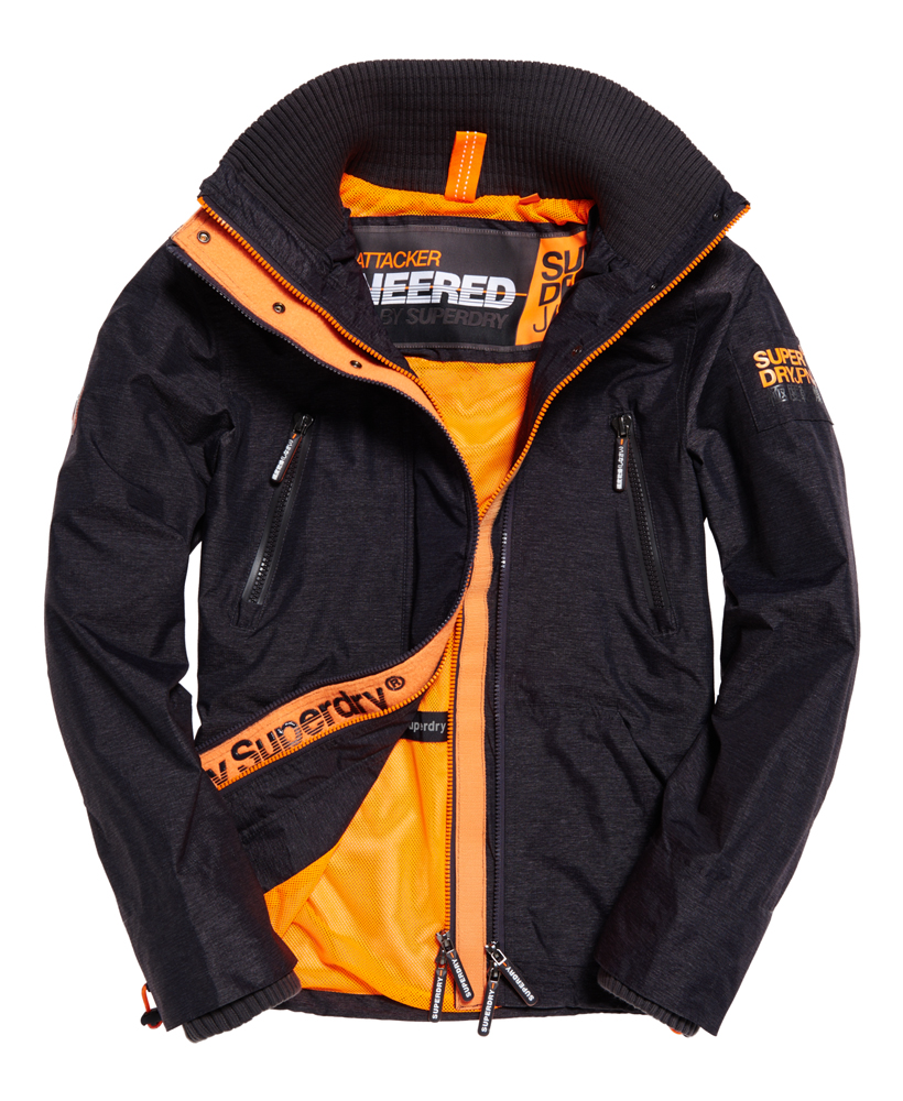 neue herren superdry wind attacker jacke dark charcoal. Black Bedroom Furniture Sets. Home Design Ideas
