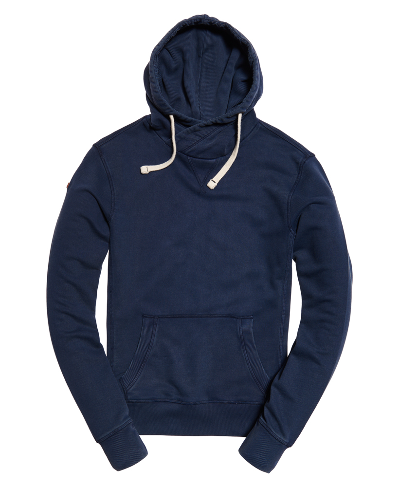 neuer herren superdry l a hoodie true indigo ebay. Black Bedroom Furniture Sets. Home Design Ideas