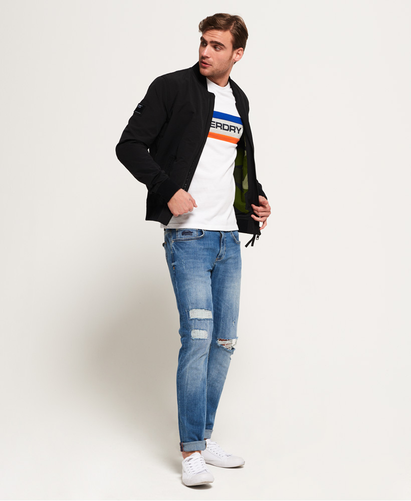 5b3bff241 Details about New Mens Superdry Rookie Air Corps Bomber Jacket Artillery  Black