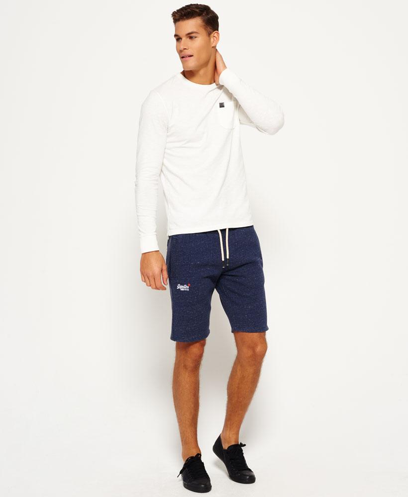 Sentinel New Mens Superdry Orange Label Slim Shorts Atlantic Navy Grit