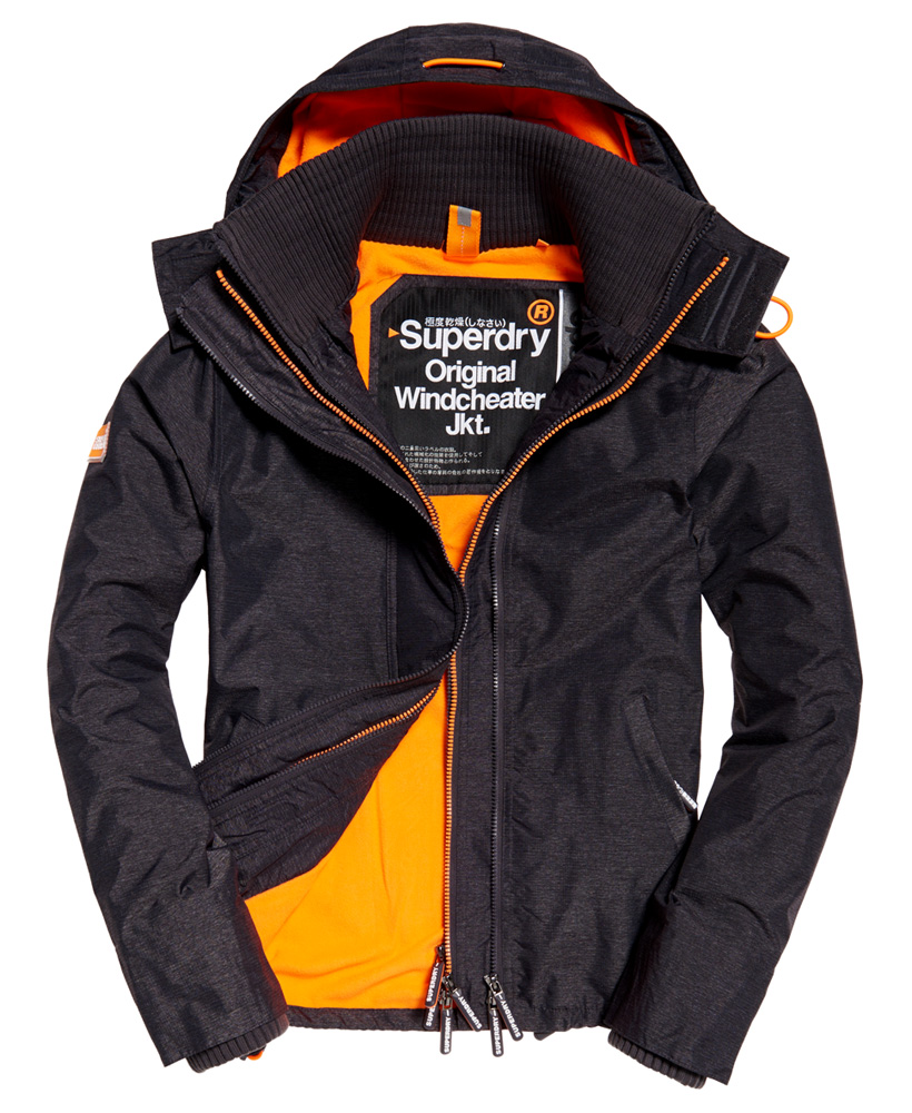 Superdry: New Mens Superdry Pop Zip Hooded Arctic SD-Windcheater