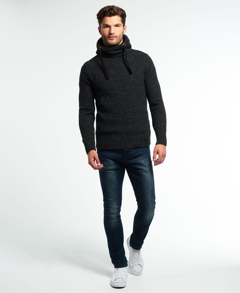 neuer herren superdry stealth hoodie black twist ebay. Black Bedroom Furniture Sets. Home Design Ideas