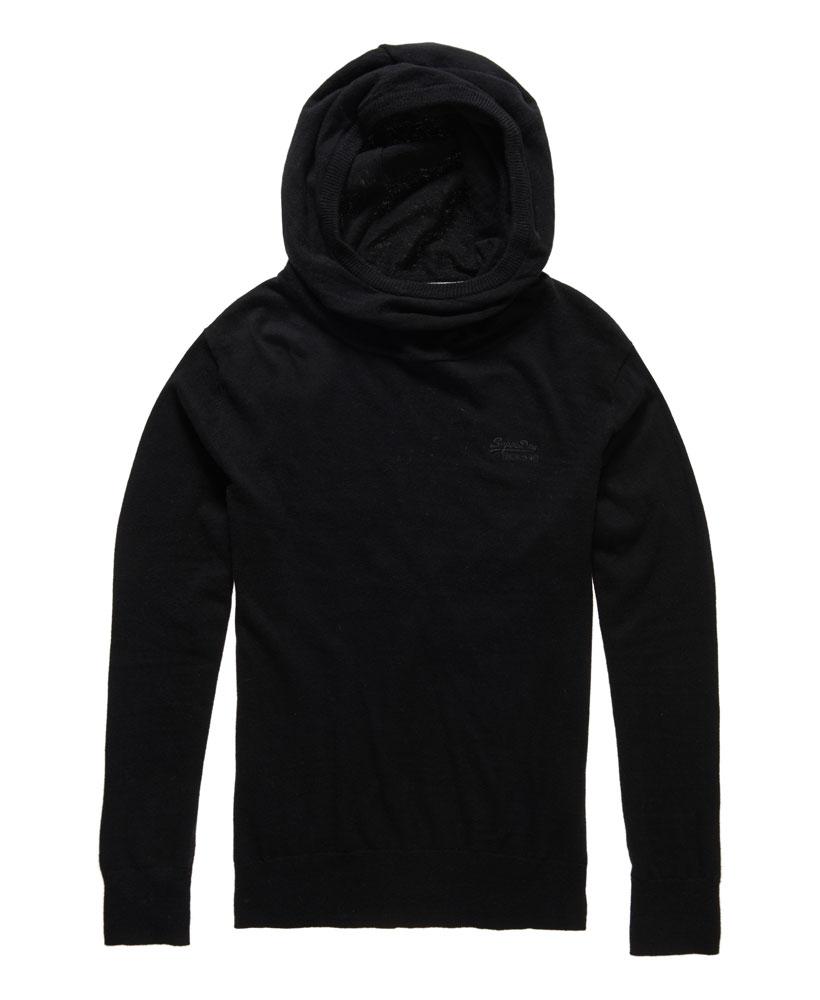 Black and orange hoodie
