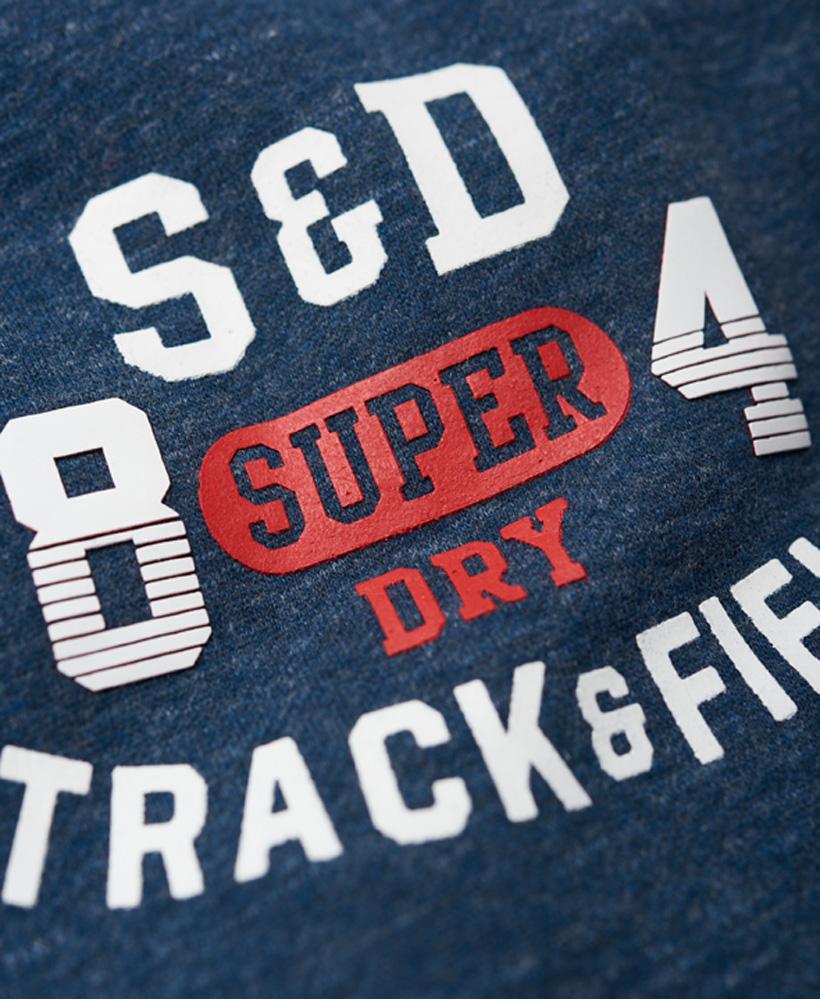 Details zu Neue Herren Superdry Trackster Jogginghose Lake Blau Grit