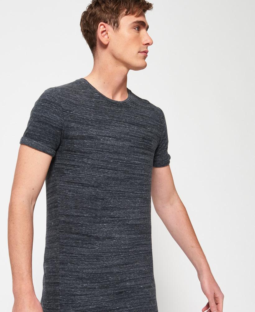 neues herren superdry langes orange label lite t shirt linear grau grit ebay. Black Bedroom Furniture Sets. Home Design Ideas