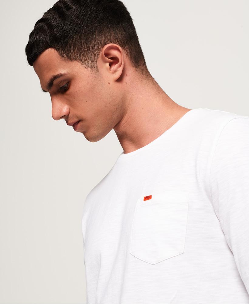 be68c09cda3b14 Sentinel Neues Herren Superdry Dry Originals Longline T-Shirt Weiß