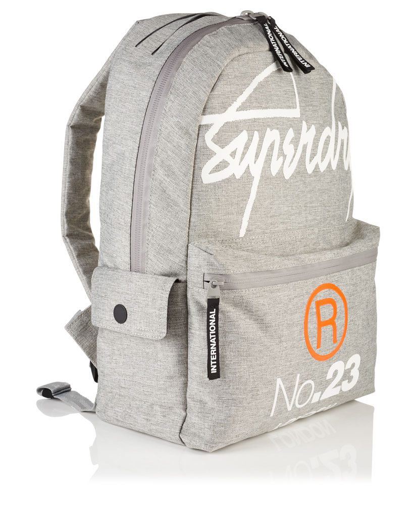 84156ec22e38b Sentinel New Mens Superdry International Montana Rucksack Light Grey Marl