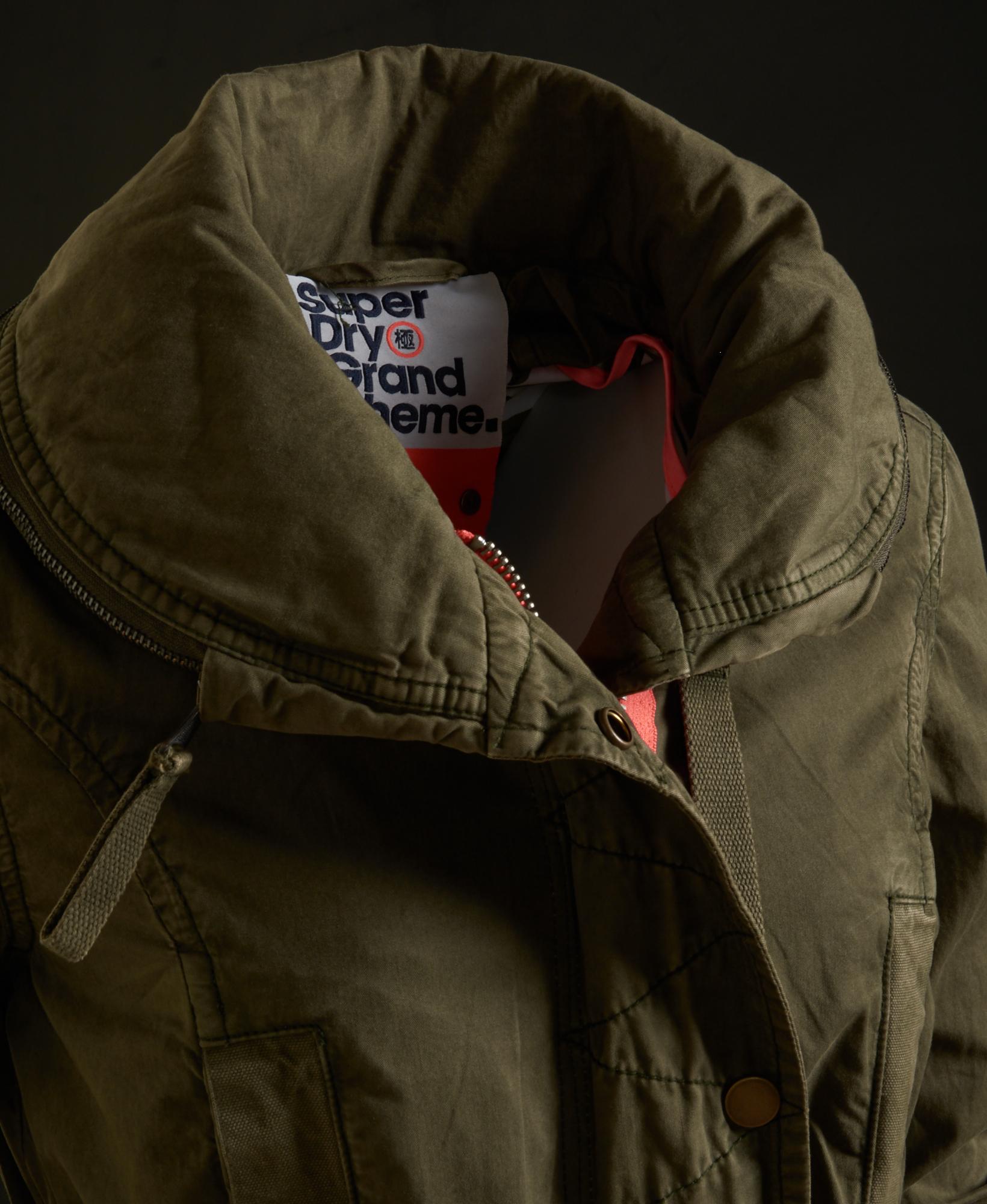 buy online 85506 7ffe3 Details zu Neue Damen Superdry Jacke Grande Scheme Jungle Parka True Army