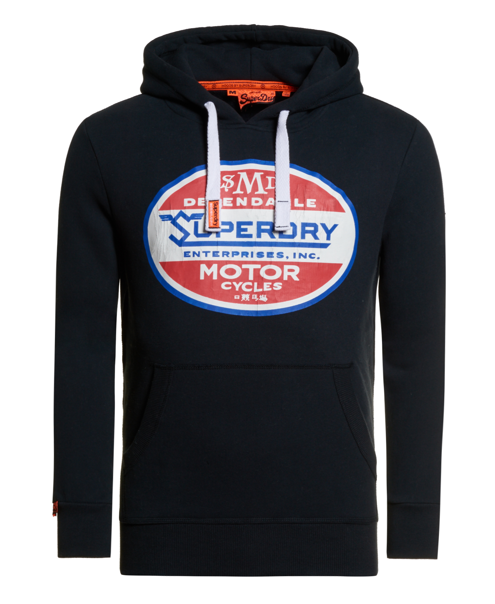 Sentinel New Mens Superdry Dependable Classic Hoodie Eclipse Navy