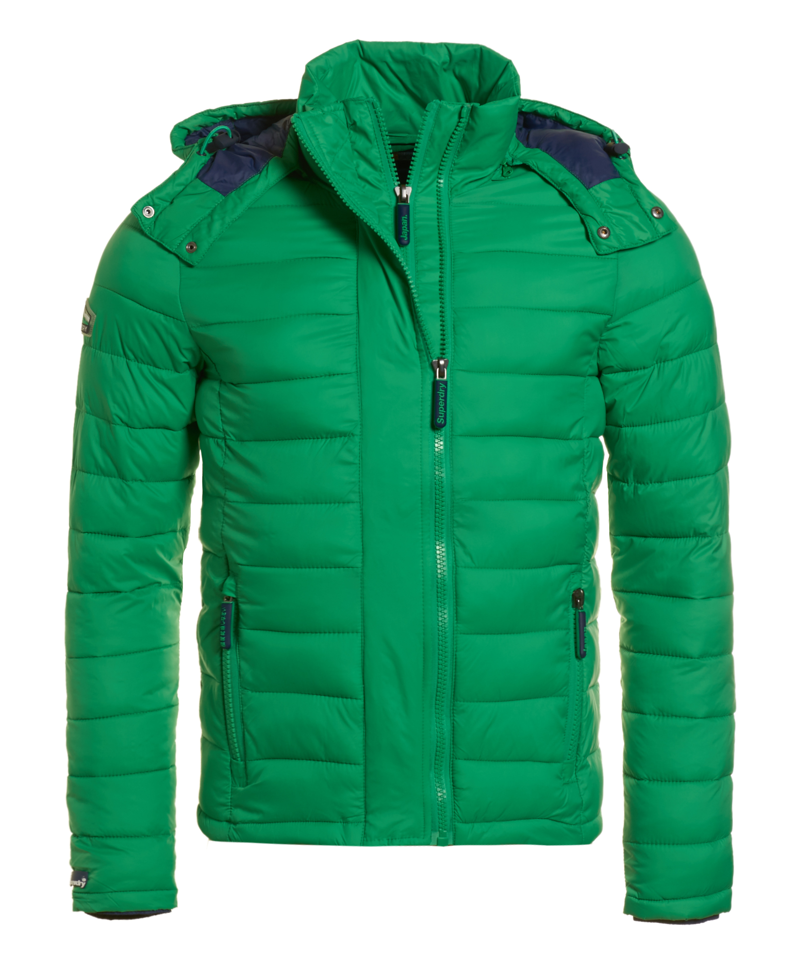 Superdry: New Mens Superdry Fuji Double Zip Hood Jacket Bright Green