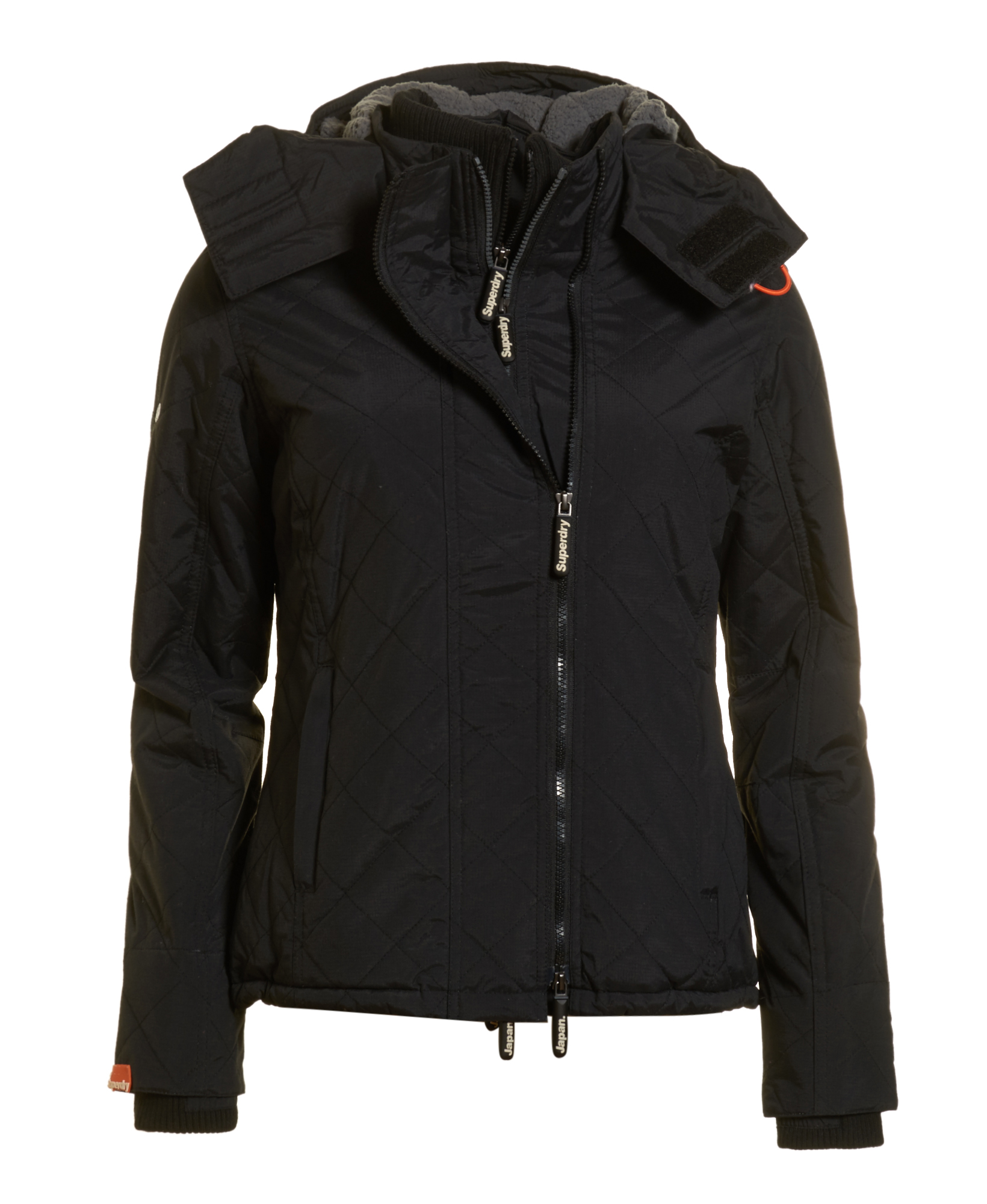 Sentinel New Womens Superdry Hooded Sherpa Quilted SD-Windcheater Black 3e96cc54c