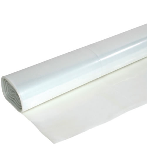 10M x 2M Clear Plastic Sheeting 60Mu Thick Many Uses