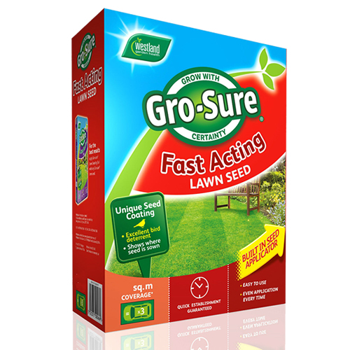 fast growing grass seed 50m 178 gro sure fast acting lawn seed garden healthy grass 28825