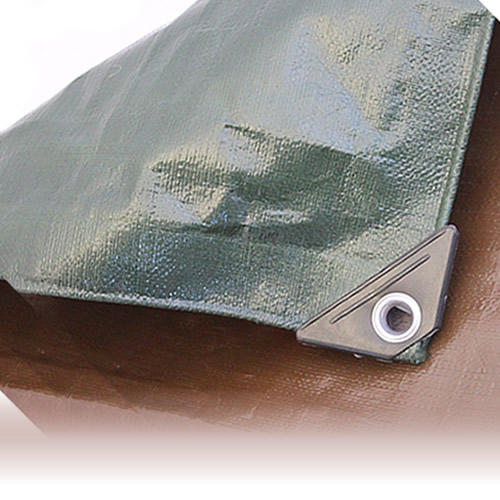 6M x 8M NEW GREEN BROWN HEAVY DUTY TARPAULIN Waterproof Cover Tarp Sheet 250GSM