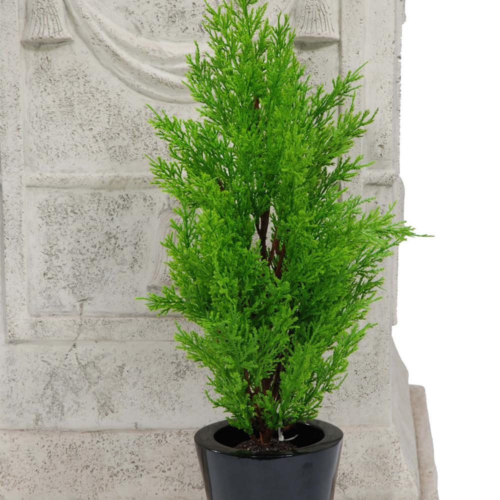 Real Indoor Trees Part - 23: 45CM ARTIFICIAL GREEN CEDAR TREE PLASTIC REALISTIC DECORATIVE INDOOR OUTDOOR