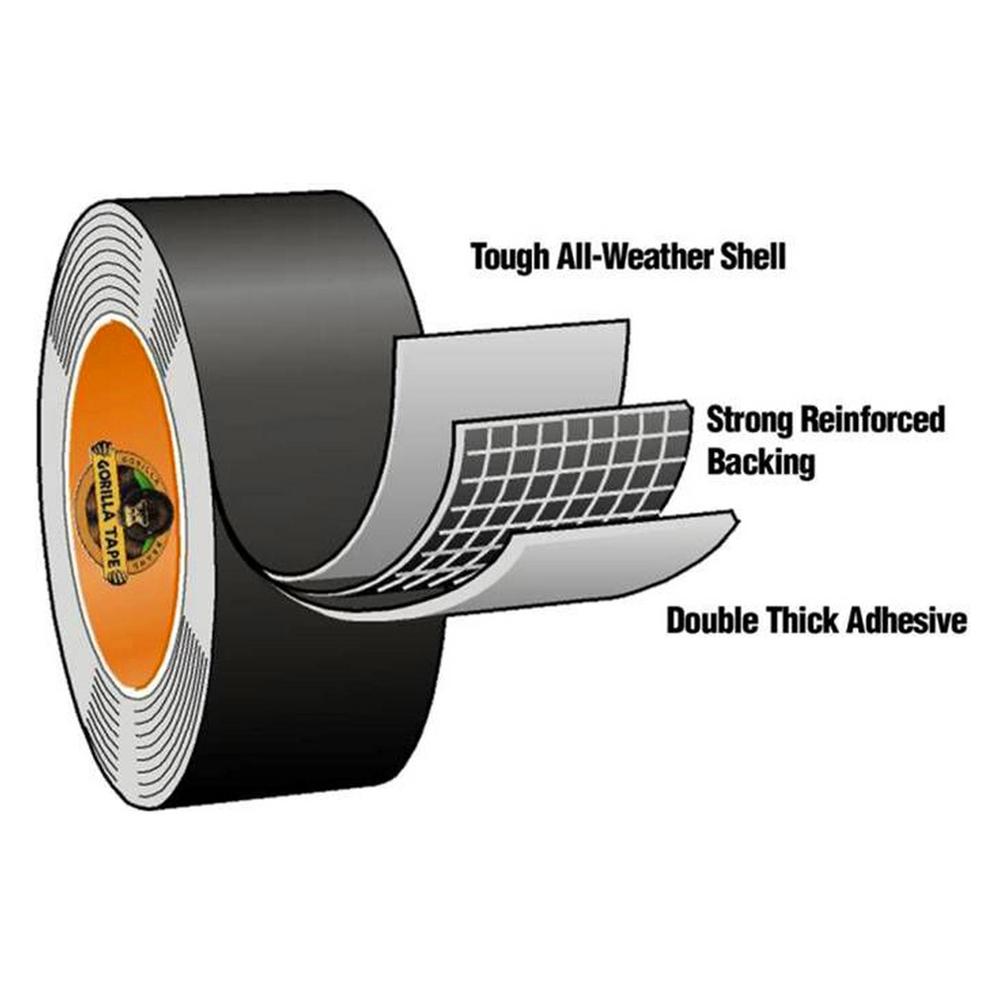 8 2 Metre Gorilla Clear Repair Tape Heavy Duty Waterproof