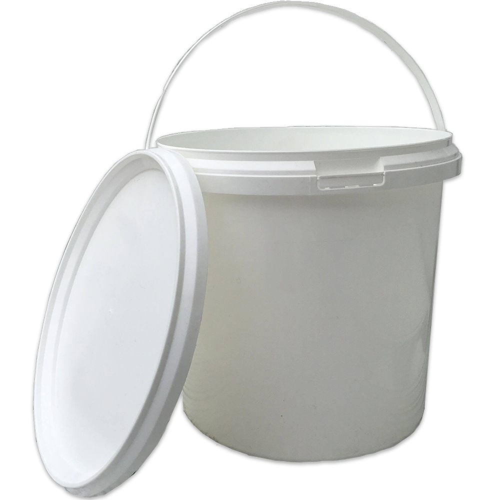 GARDENERS DREAM® WHITE 5 LITRE PLASTIC STORAGE TUB WITH LID U0026 HANDLE  CONTAINER