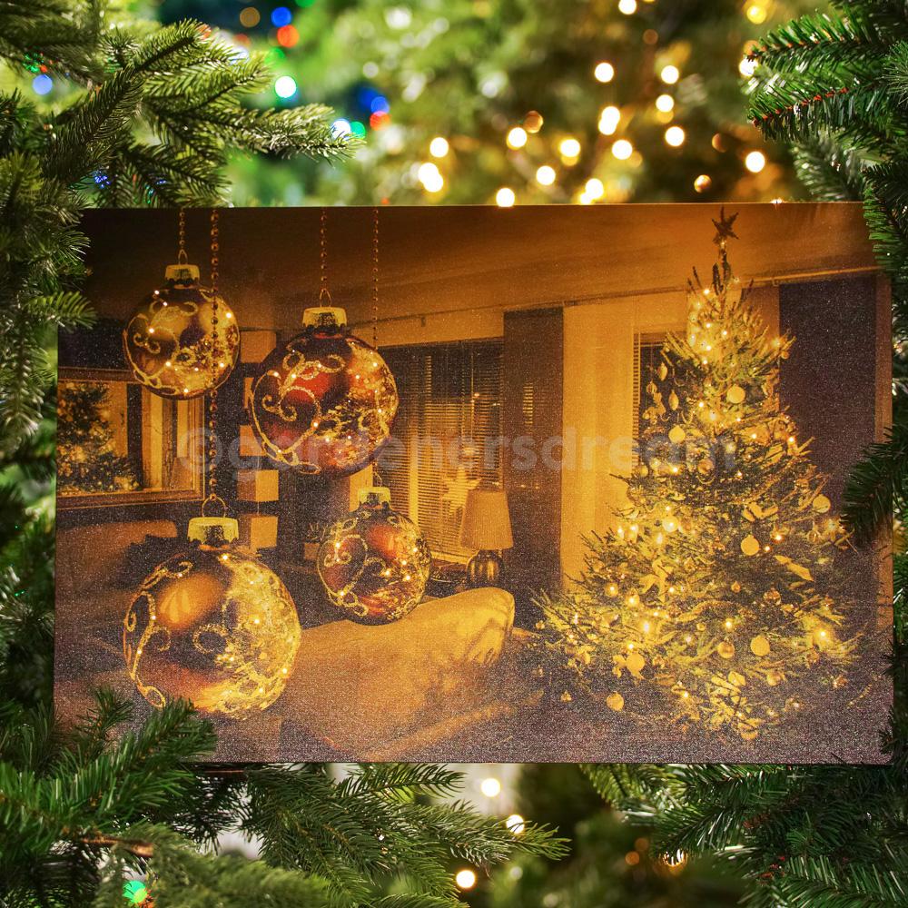 Christmas Scene.Details About Gardenersdream 2 X Led Christmas Scene Canvas Photo Frame Xmas Lights Decoratio