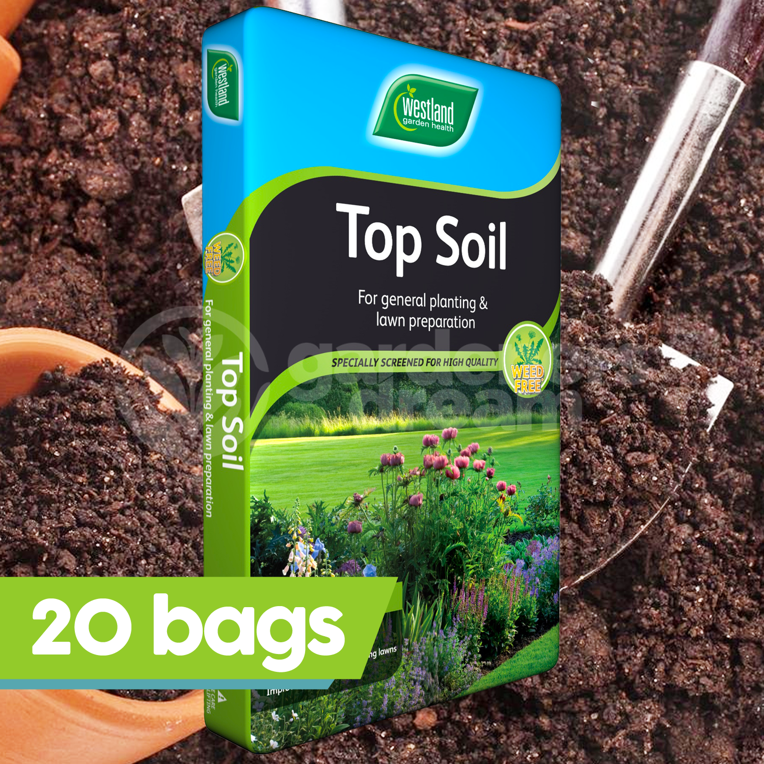 20 X Westland 35l Top Soil Multi Purpose For Gr Seed Planting Vegetables