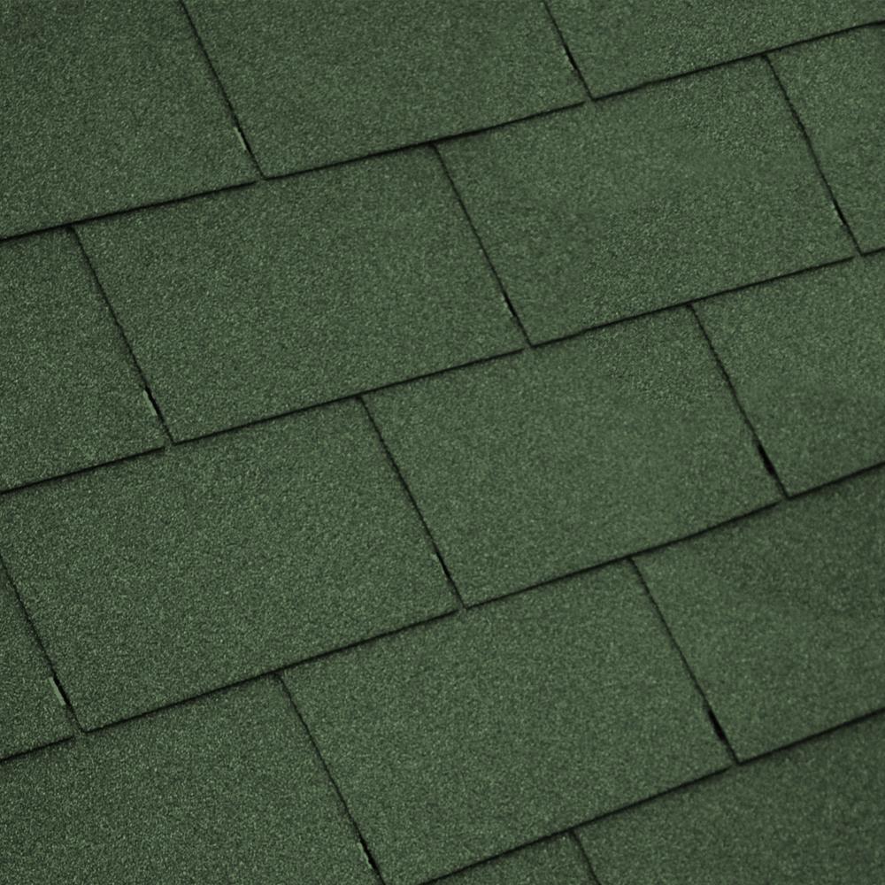 Groundmaster Green Roofing Felt Shingles Tiles Square Butt