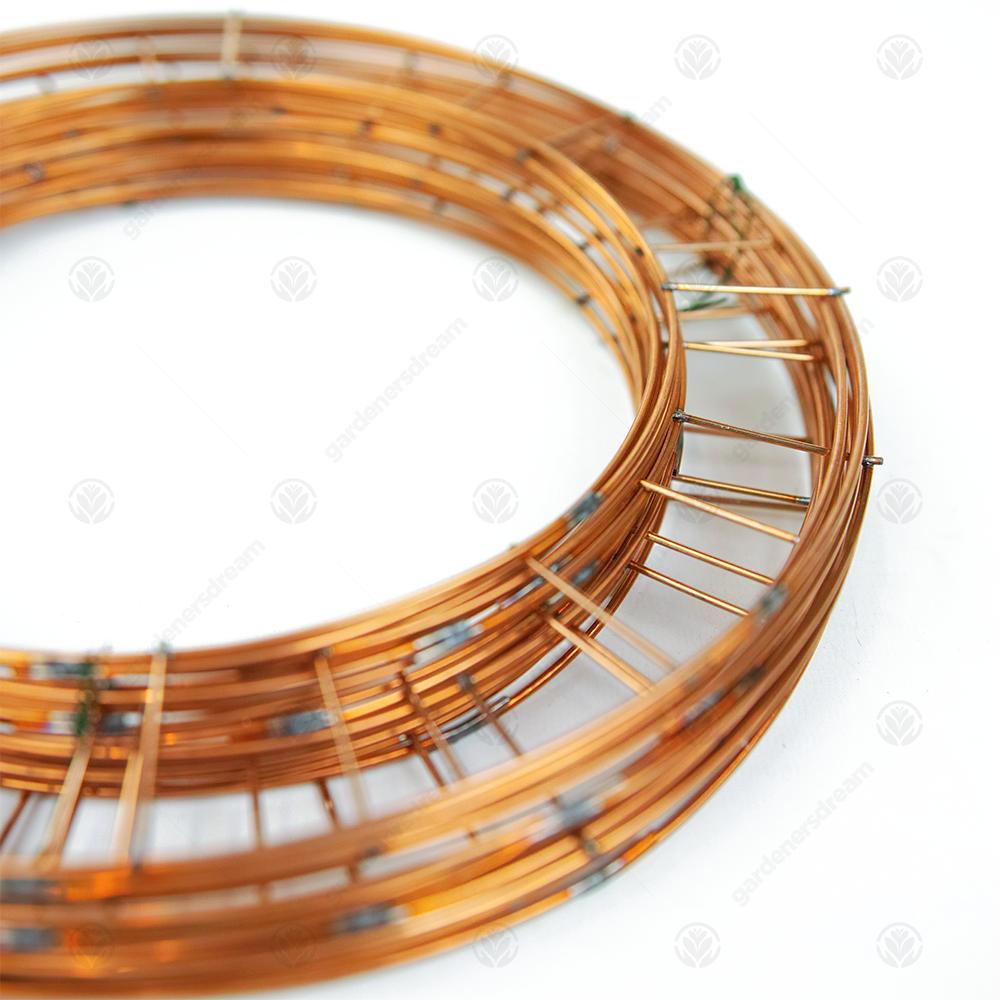 Single Floristry Hoop Frame Basic Wire 10in Flat Wreath Ring