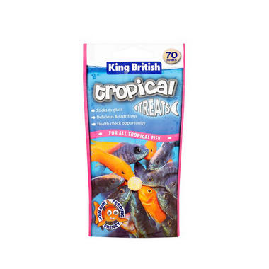 King British Aquarium Tropical Treats 40g (70 Tabs)