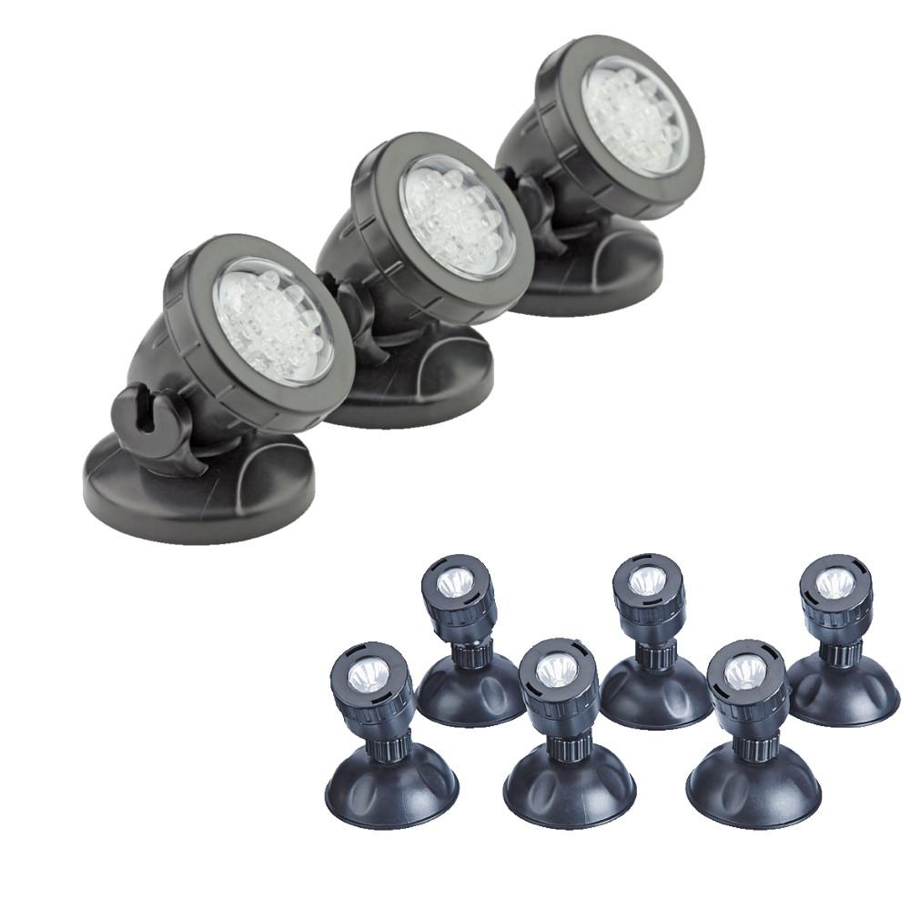 pontec pondostar led pond light sets. Black Bedroom Furniture Sets. Home Design Ideas