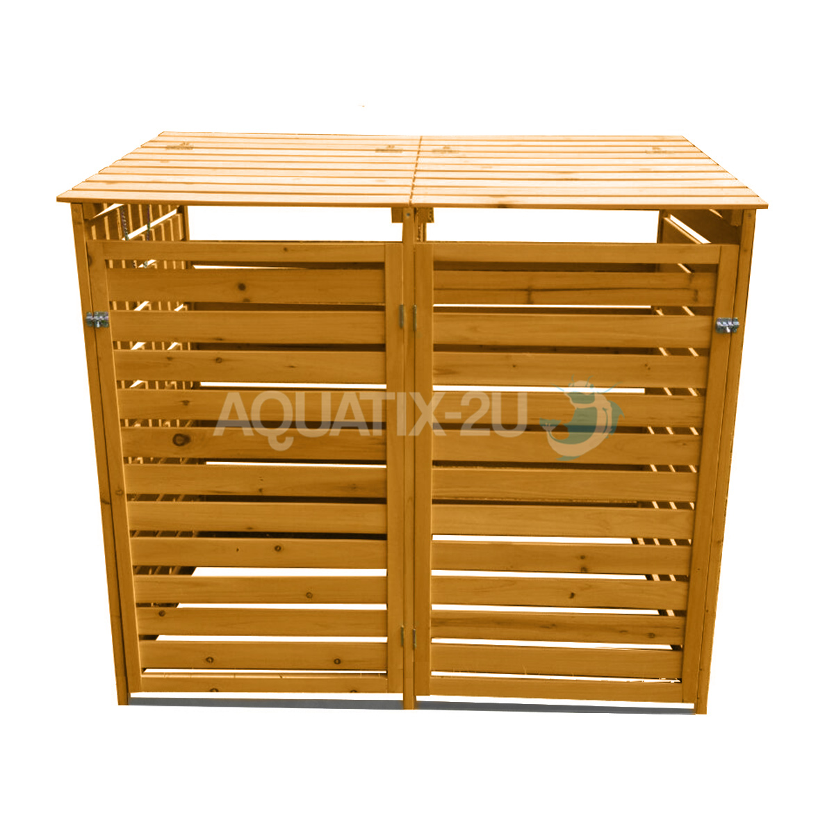 Double Wooden Wheelie Bin Store Outdoor Cupboard For