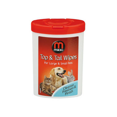 Mikki Top and Tail Wipes for Small and Large Pets