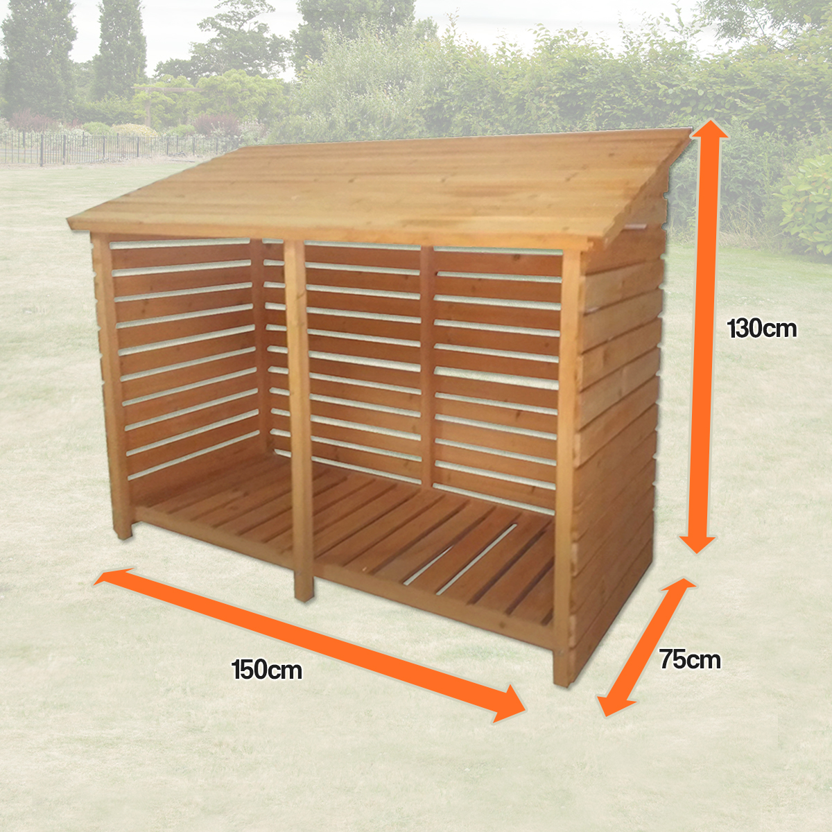 Merveilleux Sentinel LARGE DOUBLE WOOD STORE GARDEN LOG STORAGE SHED FIREWOOD WOODEN  OUTDOOR TREATED