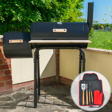 Outdoor Multifunction BBQ Smoker with Tool Set