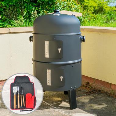 Upright BBQ Smoker with Tool Set - KCT