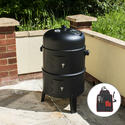 Upright BBQ Smoker with Tool Set