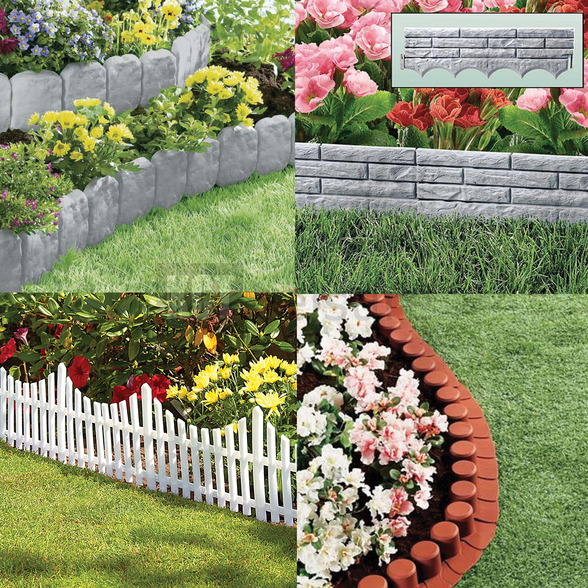 Garden Border Lawn Edging Flexible Plastic Flower Bed